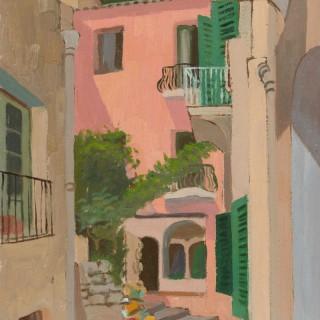 'Positano, Italy II' by Luke Dillon-Mahon (1917-1997)