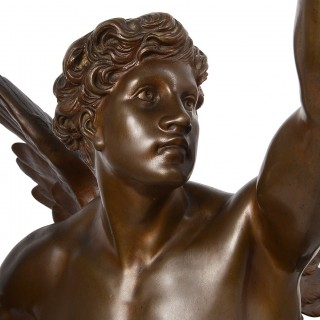 Classical 19th Century Bronze statue 'Thought' by Emile Picault.