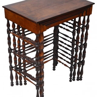 Nest of four Regency period tables, After 'Gillows' 19th Century.