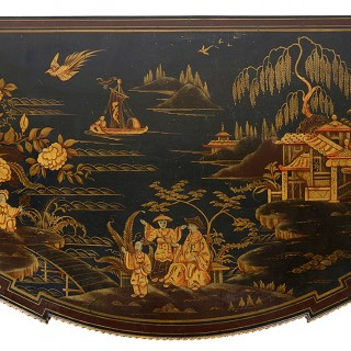 Chinoserie lacquer side cabinet, circa 1900