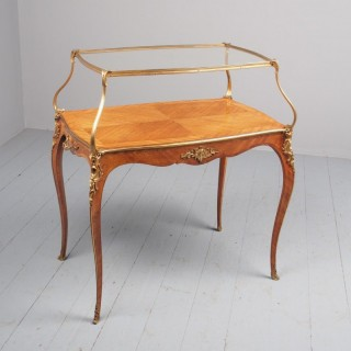 Victorian French Walnut Etagere or Side Table