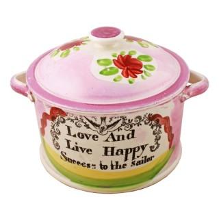 Sunderland Lustre Pot & Lid