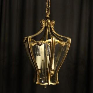 French Pair Of Triple Light Hall Lanterns
