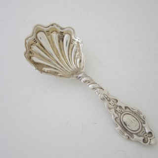 Antique Victorian Sterling Silver Caddy Spoon - 1872