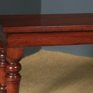 Antique English Victorian Mahogany Window / Hall Bench / Stool / Seat (Circa 1850)