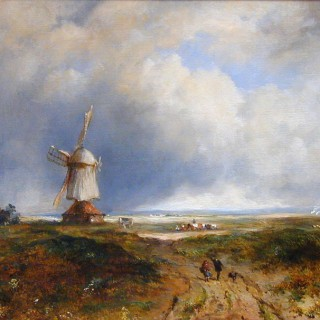 A Windmill on a Common by Frederick William Watts