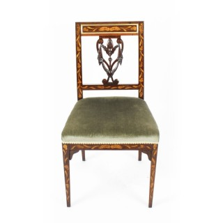 Antique Dutch Marquetry Side Chair c.1820 19th Century