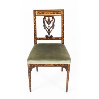 Antique Dutch Marquetry Side Chair c.1820 19th Century