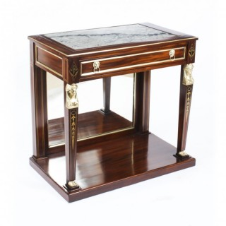 Antique Regency Marble Top & Ormolu Mounted Console Table Early 19th Century