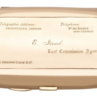 9ct Rose Gold and Enamel Cigarette Case - Antique Edwardian