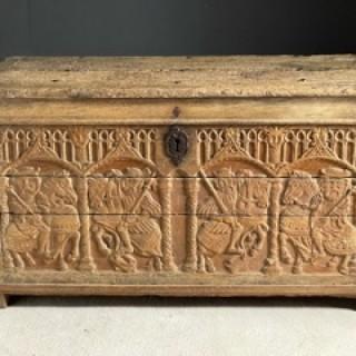 15th Century oak coffer