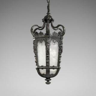 19th Century Large Bronze Hanging Lantern