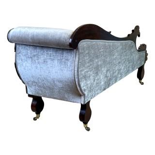 Regency Mahogany Chaise Longue