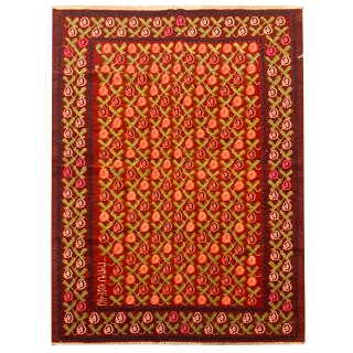 Antique Traditional Armenian Wool Kilim Area Rug- 146x206cm