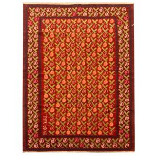 Antique Traditional Armenian Wool Kilim Area Rug- 146x206cm