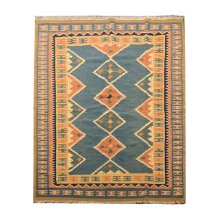 Handwoven Oriental Persian Qashqai  Kilim Area Rug UK -204x296cm