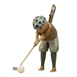Vintage Parlour Golf Toy, Tommy Green by Schoenhut, Philadelphia