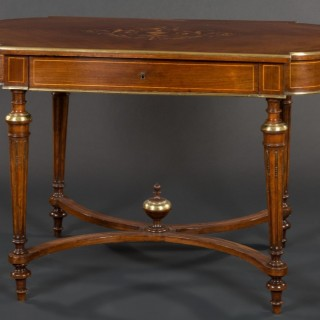 French Rosewood and marquetry Center Table