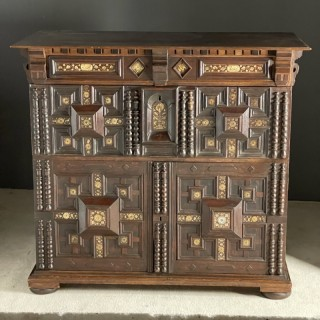 Late 17th Century moulded chest with bone inlays
