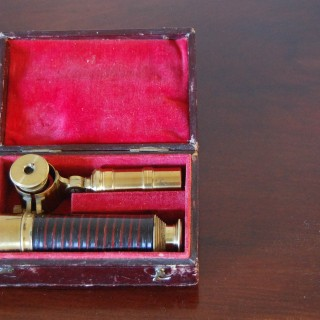 Early Victorian Cased Student's Field Telescope by WE & F Newton, Fleet Street, London