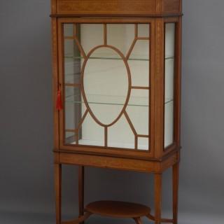 Edwardian Mahogany and Inlaid Display Cabinet