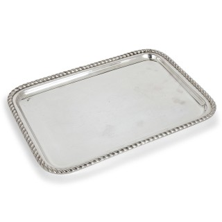 Fine Silver-Plate Tray by Lebanese Firm Habis