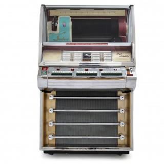 100-Record Retro American Seeburg Select-O-Matic V-200 Jukebox