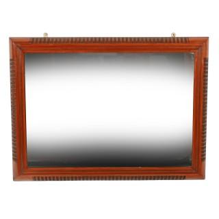 Victorian Walnut Framed Mirror
