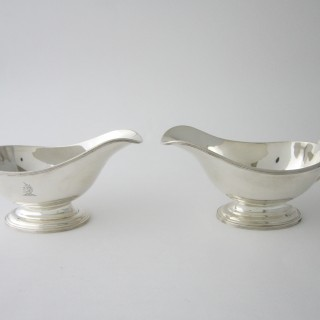 Antique Sterling Silver Sauce Boats - 1933