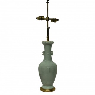 A CHINESE CELADON PORCELAIN LAMP