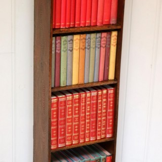 Small Proportioned Arts And Crafts Oak Open Bookcase