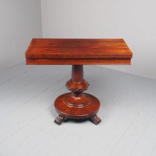 Antique William IV Rosewood Foldover Tea Table