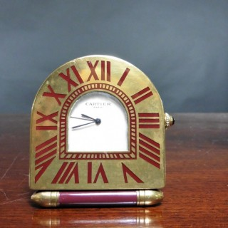 Cartier Art Deco Style Travel Clock