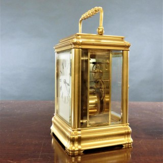 Victorian French Gilded Gorge Case Carriage Clock