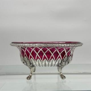 18th Century Antique George III Sterling Silver Dish London 1795 William Pitts & Joseph Preedy