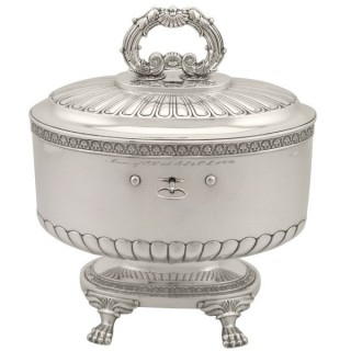 Sterling Silver Locking Biscuit Box - Antique 1845