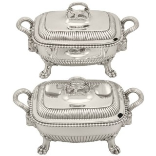 Sterling Silver Tureens - Antique George III (1810)