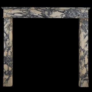 An early 19th century Italian Breccia marble Chimneypiece