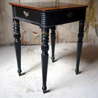 A Fine Late Regency Period Rosewood & Ebonised Side Table c.1825-35