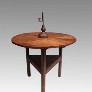 Georgian  Welsh  country oak cricket table.