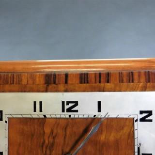 Art Deco Walnut 'Cubist' Mantel Clock