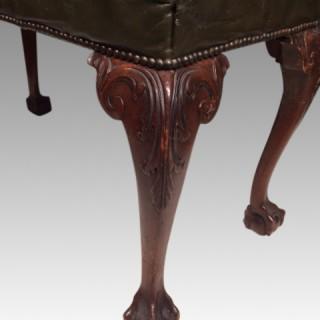 Georgian  style mahogany cabriole leg stool.