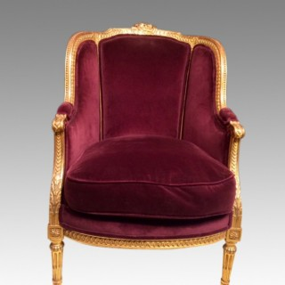 19th century French carved giltwood armchair.