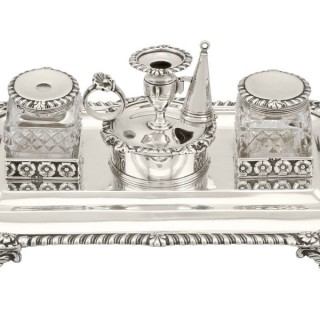Sterling Silver Inkstand - Antique George III