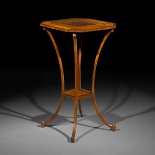 19th Century Neoclassical Satinwood Lamp Table
