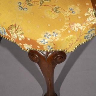 Antique Queen Anne Style Desk Armchair