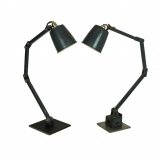 A PAIR OF 50'S ARTICULATED LAMPS