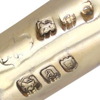 Sterling Silver Gilt Pomander - Antique Victorian