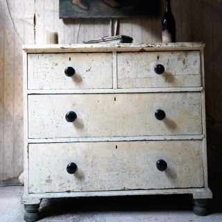 A Victorian Painted Pine Chest of Drawers c.1880-1900