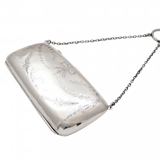 Antique Sterling Silver Purse 1919
